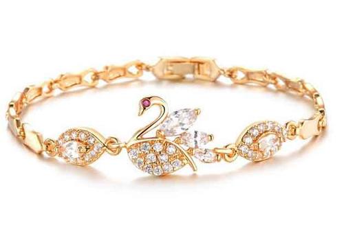 Swan cz bracelet 770107